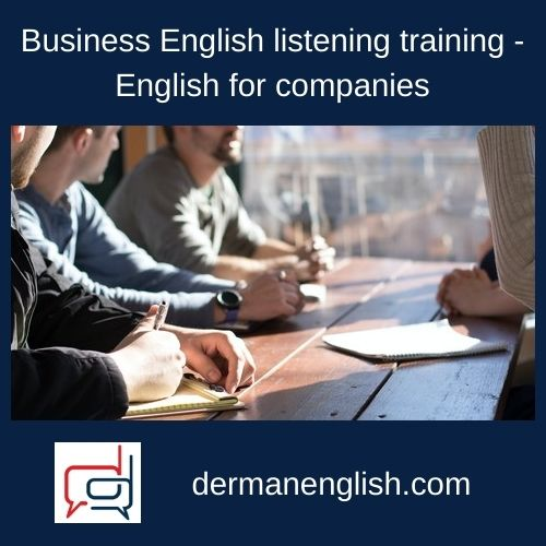Business English listening training – English for companies