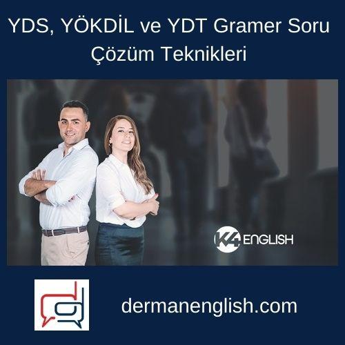 YDS, YÖKDİL ve YDT Gramer Soru Çözüm Teknikleri - K4 English Yayıncılık