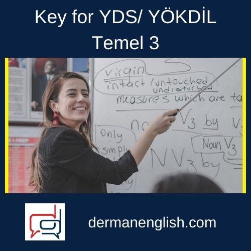 Key for YDS/ YÖKDİL – Temel 3 - K4 English Yayıncılık