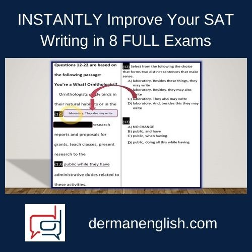 INSTANTLY Improve Your SAT Writing in 8 FULL Exams - Steve Min